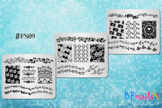 BEnails轉印美甲-轉印鋼板FS09 小清新-Mini Garden