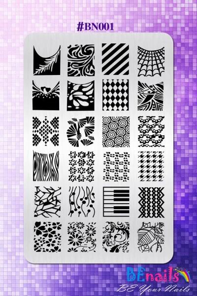 BEnails指彩美甲印花轉印鋼板(BN001_奇幻之網)指甲彩繪圖樣