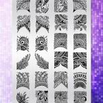 BEnails指彩美甲印花轉印鋼板(BN004_絢麗之舞)指甲彩繪圖樣