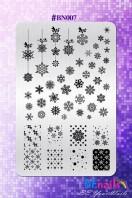BEnails美甲印花指彩轉印鋼板(BN007_冰雪奇緣)指甲彩繪圖樣