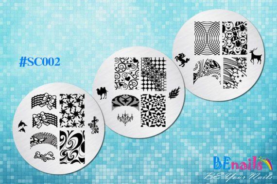 BEnails美甲印花指彩轉印鋼板(SC002_奔放)指甲彩繪圖樣