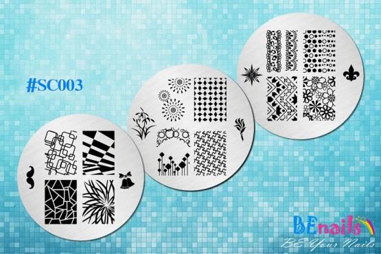 BEnails美甲印花指彩轉印鋼板(SC003_煙花)指甲彩繪圖樣