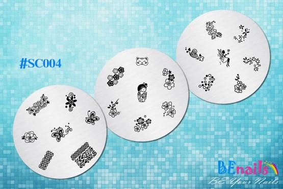 BEnails指彩美甲印花轉印鋼板(SC004_思念)指甲彩繪圖樣