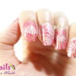 BEnails印花美甲指甲彩繪轉印鋼板(BN001_奇幻之網)彩繪範例3