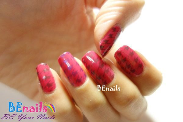 BEnails印花美甲指甲彩繪轉印鋼板(BN001_奇幻之網)彩繪範例4