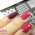 BEnails印花美甲指甲彩繪轉印鋼板(BN001_奇幻之網)彩繪範例5