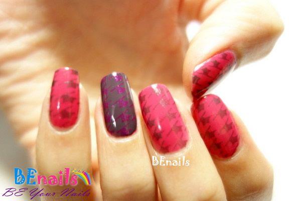 BEnails印花美甲指甲彩繪轉印鋼板(BN001_奇幻之網)彩繪範例6