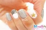 BEnails印花美甲指甲彩繪轉印鋼板(BN002_晶漾之紋)彩繪範例1