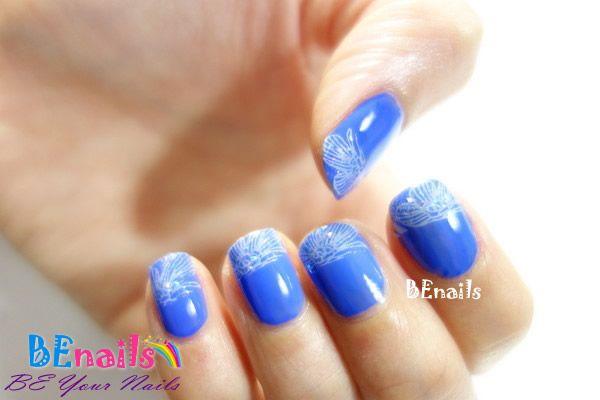 BEnails印花美甲指甲彩繪轉印鋼板(BN003_微笑之門)彩繪範例4