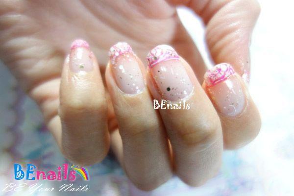 BEnails印花美甲指甲彩繪轉印鋼板(BN003_微笑之門)彩繪範例1
