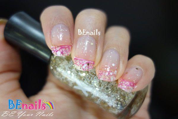 BEnails印花美甲指甲彩繪轉印鋼板(BN003_微笑之門)彩繪範例2