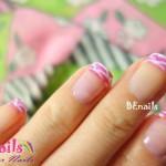 BEnails指甲彩繪轉印鋼板(BN003_微笑之門)美甲DIY教學範例-經典優雅的粉紅色系法式美甲!