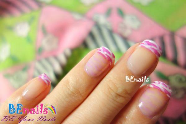 經典優雅的粉紅色系法式美甲!