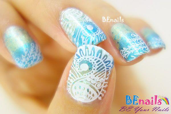 指尖如同穿著華麗衣裳的指甲彩繪造型!