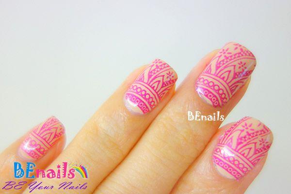 BEnails美甲印花指甲彩繪轉印鋼板(BN004_絢麗之舞)美甲DIY教學範例-閃耀著美麗光芒的華麗指甲彩繪造型!