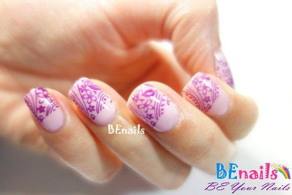 BEnails美甲印花指甲彩繪轉印鋼板(SC001_戀愛ING)彩繪範例5