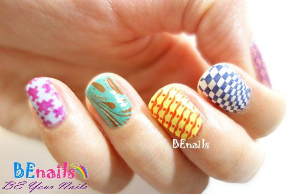 BEnails指甲彩繪轉印鋼板(SC001_戀愛ING)彩繪範例10美甲印花