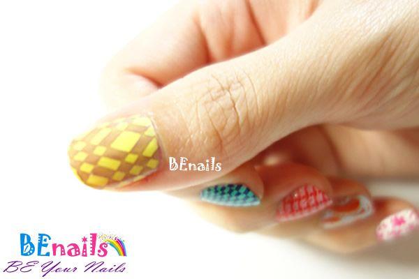 BEnails美甲印花指甲彩繪轉印鋼板(SC001_戀愛ING)彩繪範例8