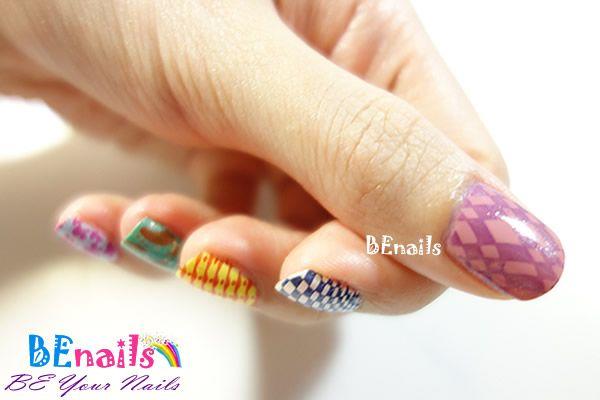 BEnails美甲印花指甲彩繪轉印鋼板(SC001_戀愛ING)彩繪範例7