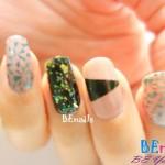 BEnails美甲印花指甲彩繪轉印鋼板(SC002_奔放)彩繪範例4