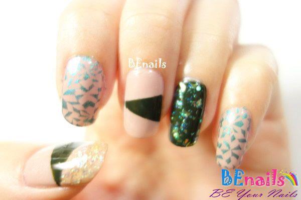 BEnails美甲印花指甲彩繪轉印鋼板(SC002_奔放)彩繪範例3