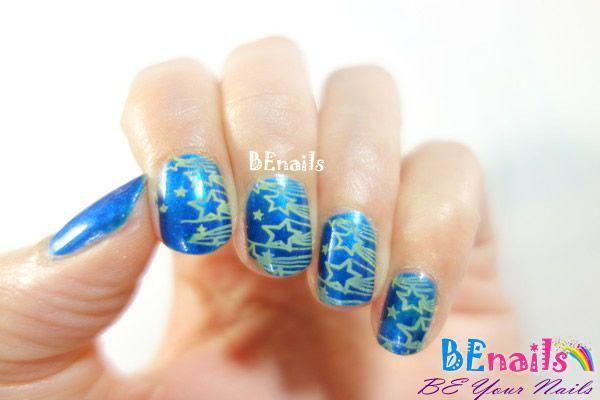 BEnails美甲印花指甲彩繪轉印鋼板(SC002_奔放)彩繪範例2