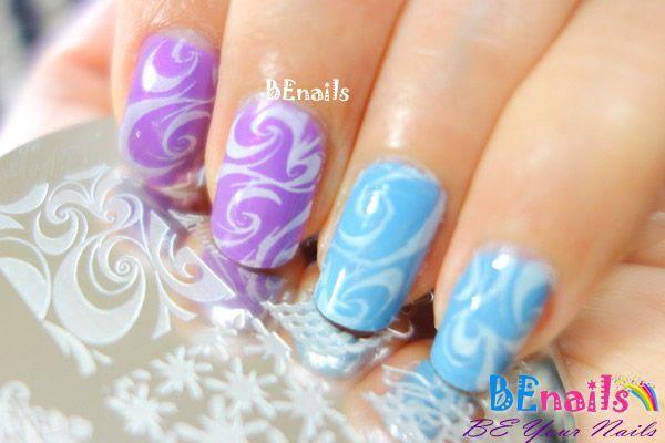 BEnails美甲印花指甲彩繪轉印鋼板(SC002_奔放)彩繪範例1
