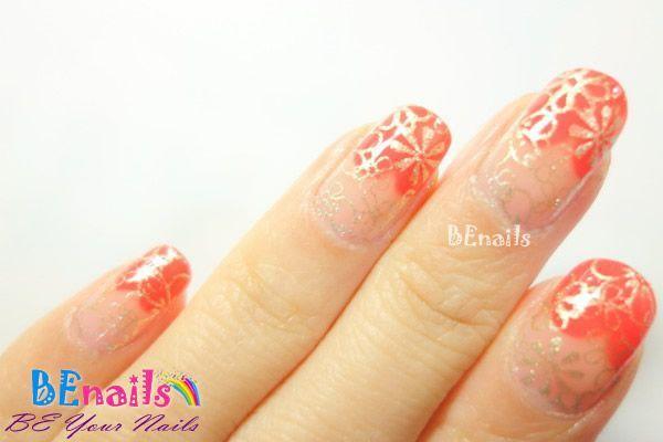BEnails美甲印花指甲彩繪轉印鋼板(SC003_煙花)彩繪範例2