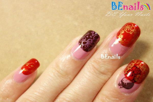 BEnails美甲印花指甲彩繪轉印鋼板(SC004_思念)彩繪範例2