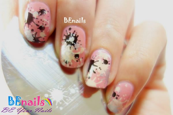 BEnails印花美甲指甲彩繪轉印鋼板(SC006_蝶影)彩繪範例-噴墨造型美甲風格!