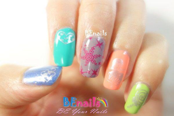 BEnails印花美甲指甲彩繪轉印鋼板(SC007_甜心)彩繪範例3