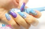 BEnails印花美甲指甲彩繪轉印鋼板(SC008_花語)彩繪範例2