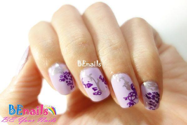 BEnails印花美甲指甲彩繪轉印鋼板(SC008_花語)彩繪範例5