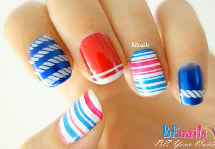 經典的直線橫線,交出出美麗動人的指甲彩繪造型!