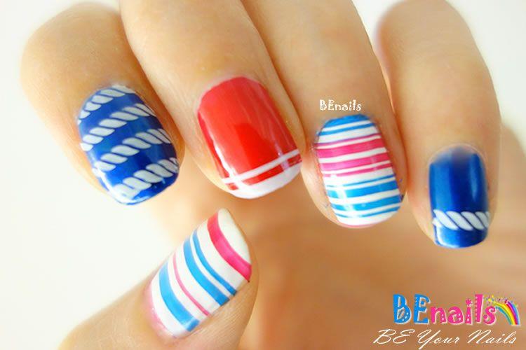 BEnails美甲印花指甲彩繪轉印鋼板(BN005經典格紋)美甲DIY教學範例-經典的直線橫線,交出出美麗動人的指甲彩繪造型!