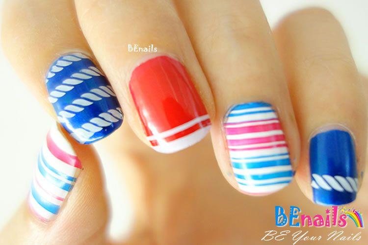 BEnails指甲彩繪轉印鋼板(BN005經典格紋)美甲DIY教學範例-作為美的象徵,直線條與菱格紋是經典中的經典指甲彩繪造型!