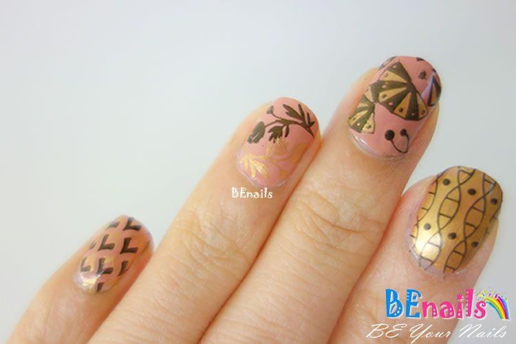 BEnails印花美甲指甲彩繪轉印鋼板(BN006夏祭微風)美甲DIY教學範例-讓日式的扇子搧走夏日的炎熱吧 – 指甲彩繪造型!