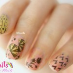 BEnails印花美甲指甲彩繪轉印鋼板(BN006夏祭微風)美甲DIY教學範例-螺旋的糾結搭配日式的扇子花草的指甲彩繪造型!