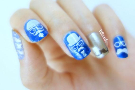 BEnails轉印美甲-翹鬍子指甲彩繪DIY,父親節快樂!