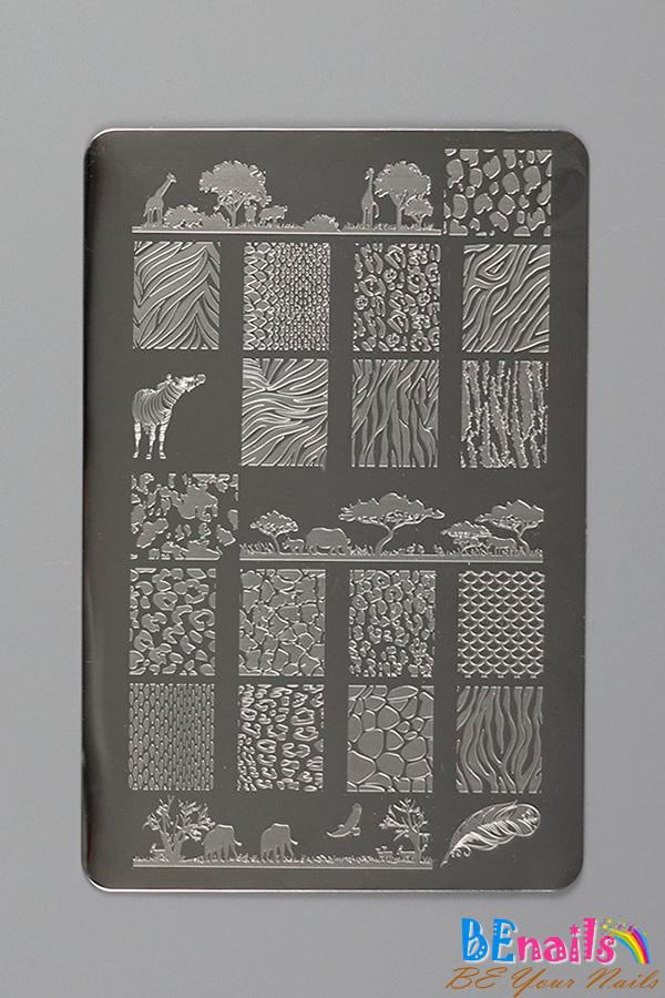 BEnails印花美甲轉印板(大方版)BN010_ 野性美-斑馬、海鷗、條紋、黑白色系