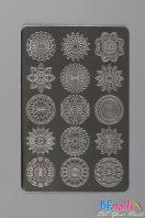BEnails印花美甲轉印板(大方版)BN011印度謎-望月_月輪、星月、文明時代