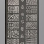 BEnails印花美甲轉印板(大方版)BN012-1昔日拾光-窗_花紋、重複圖騰、碎花