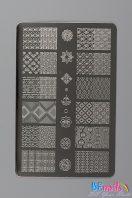 BEnails印花美甲轉印板(大方版)BN012-2昔日拾光-倚_花紋、重複圖騰、碎花