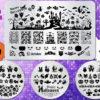 BEnails印花轉印美甲-BNSC014萬聖系列(古堡+派對)-指甲彩繪轉印鋼板