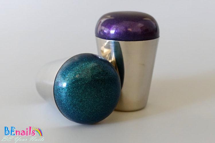 BEnails轉印美甲-星空轉印章-優惠組-緋紫+炫綠(皆附刮板)