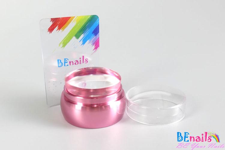 BEnails美甲透明轉印章-PINK(附刮板)