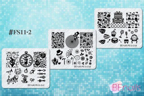 BEnails轉印美甲-FS11-2 愛麗絲-瘋狂茶會