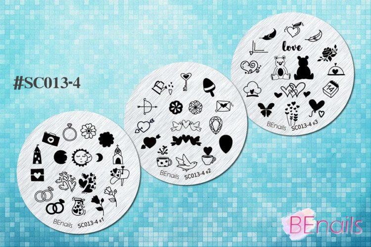 BEnails轉印美甲-(小圓版)SC013-4 Love color -寶貝紫