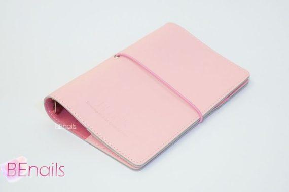 BEnails轉印美甲-(粉)轉印鋼板收納本,附6入獨家設計專用活頁
