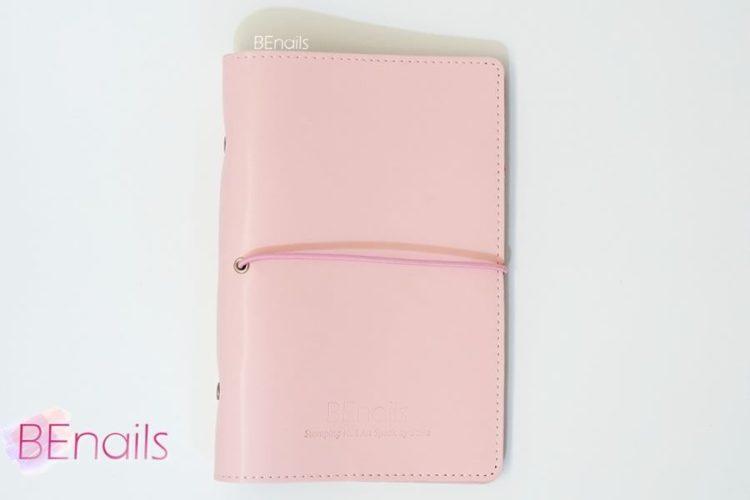 BEnails轉印美甲-(粉)轉印鋼板收納本,附6入獨家設計專用活頁BEnails_loose_leaf_notebook_pink_03